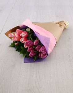 Birthday Gifts For Her Purple And Pink Tulip Bouquet Tulips