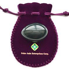 Nephrite Ei für Yoni Massage und Anzugsbeckenbodenmuskulatur, Zentral Gebohrt, mittlere Größe, für alle Benutzer, zertifiziert, mit Bedienungsanleitung, ausgezeichnetes Geschenk, auch gut für Crystal Energieheilung als Meditation, von Polar Jade