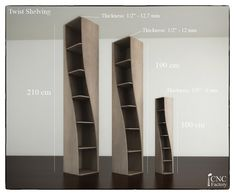 TWIST SHELVING - Cnc template cutting file - shelf - Plans laser cutting…