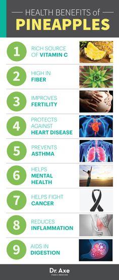 Pineapple Health Benefits List