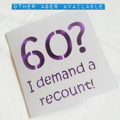 Funny 60th Card For Birthday60th Birthday Male