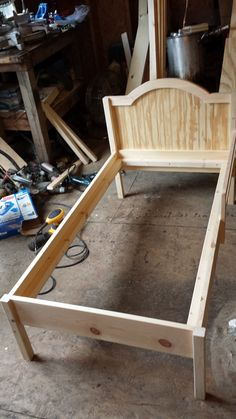 Ana White   The Traditional Wood Toddler Bed - DIY Projects