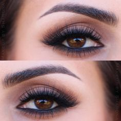 """""""Caramel Swirl"""" Tutorial using the Too Faced Semi-Sweet Chocolate Bar palette (created exclusively for Sephora by Instagram user 'makeupbysharona'). Check out her complete tutorial on Instagram."""