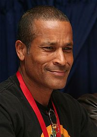 Phil Morris - Thurgood Stubbs of The PJs, Saint Walker - Green Lantern. also appeared in The Fresh Prince of Bel Air.