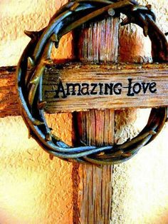 † Thank you Jesus for dying on the cross to save us from our sins... (Kj - This would make an awesome cross to hang on the wall at mom & dad's cowboy church in Afton...