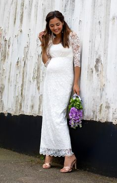 Katie Maternity Wedding Gown Long Ivory - Maternity Wedding Dresses, Evening Wear and Party Clothes by Tiffany Rose Maternity Fashion Dresses, Maternity Dresses For Baby Shower, Maternity Wedding, Tiffany Rose, Wedding Dresses 2014, Wedding Gowns, Bridal Gowns, Chic Wedding, Wedding Styles
