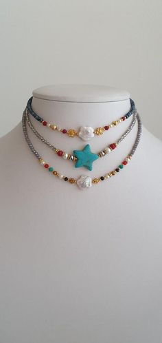 Beach Jewelry, Diy Jewelry, Handmade Jewelry, Unique Jewelry, Feet Jewelry, Choker Jewelry, Summer Jewelry, Jewelry Making, Jewellery
