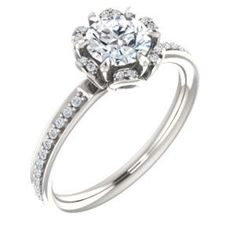 Continuum Silver 1/6 CTW Diamond Round Floral-Inspired Engagement Ring. On your next vacation, don't forget to visit us in the fabulous Florida Keys! We offer unique nautical jewelry, treasure coins,