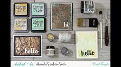 How To - Crafty Hack: 3 New Ways to use a stencil with HNDMD by Hedgehog...