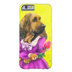Funny I phone 6 cover with dog in ladies outfit Barely There iPhone 6 Case