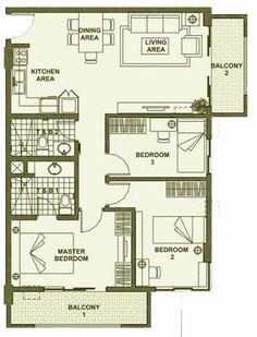 Accolade Place - 3-Bedroom Unit Floor Plan C #realEstate #condominium #manilacondo www.mymanilacondo.com