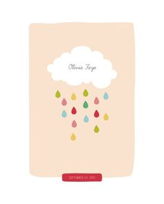 Raindrops Keep Falling Custom Art Prints by Stacey Meacham | Minted