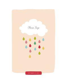 Raindrops Keep Falling Custom Art Prints by Stacey Meacham   Minted