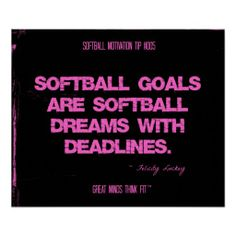 softball quotes and pictures | Softball Quotes in Threads 005 Posters from Zazzle.com
