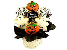 Happy Halloween Sugar Cookie Bouquet
