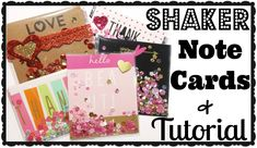 Fun idea!!!!! - Shaker Note Cards + Tutorial!