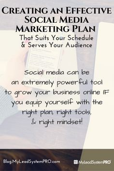 Do you struggle with creating an effective social media marketing plan that both fits in with your schedule and still provides massive value to your audience on a consistent basis?  This post will help you create an effective social media marketing plan no matter the social media site you choose! ...  #jacshenderson #mlsp #socialmediastrategy