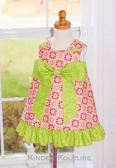 Sugar and Spice ALine Dress  Size 18mos8 by KinderKouture on Etsy, $48.00