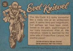 Evel Knievel trading cards