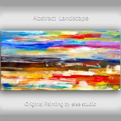 "Original Art huge Impasto Texture modern oil painting  Abstract construction on gallery wrap linen canvas by Tim Lam 48""  x 24"" on Etsy, $368.00"