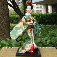 30cm Japanese Geisha Kimono Kabuki Doll Beauty Girl Figurine-Geisha 31