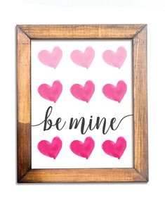 Excited to share this item from my shop: Be Mine - Watercolor Pink Ombre Hearts / Valentine's Day Printed Wall Art / Valentines Art, Be My Valentine, Artwork Prints, Wall Art Prints, Art Projects For Teens, Watercolor Heart, Nature Artwork, Printable Wall Art, Art Work