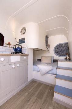 Gallery of the sprinter camper van conversion built in Oxford, England. Build A Camper Van, Van Conversion Interior, Van Dwelling, Van Home, Campervan Interior, Van Living, Motorhome, Remodeled Campers, Amazing Spaces