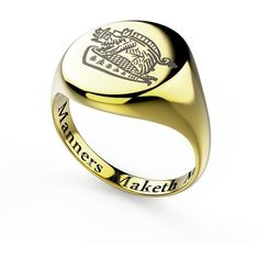 Kingsman Signet Ring ❤ liked on Polyvore featuring jewelry, rings, kingsman and signet rings