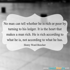 Great quote from Henry Ward Beecher