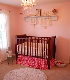 Pink baby girl room nursery