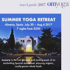See the advertisement for my retreat in the latest issue of @omyogamagazine in their travel special :) come on over to www.sentiayoga.com to book your place! Xxx #yoga #summer #yogaretreat
