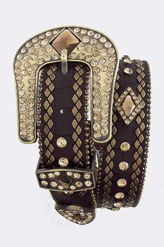 Diamond Crystal Studded Belt, $45.00 (http://www.cowgirlblingranch.com/products/diamond-crystal-studded-belt.html)