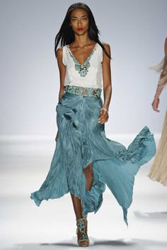 Carlos Miele Spring 2013 - love the turquoise!