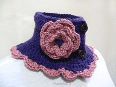 Knitted Scarf Neck Warmer Collar Victorian Steam Punk Scarf from Etsy Shop lanadearg ($28.00)
