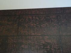 """Plywood sub floor made to look like hard wood. General Splendour: Foyer Makeover - Painted """"Hardwood Floors"""" - I love them!"""