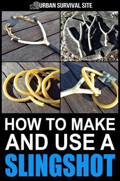 Slingshots are great for wilderness survival. You can use them to hunt small game or for self defense. Here's how to make a slingshot and how to use it. Survival Quotes, Survival Food, Outdoor Survival, Survival Prepping, Emergency Preparedness, Survival Skills, Survival Equipment, Survival School, Survival Hacks