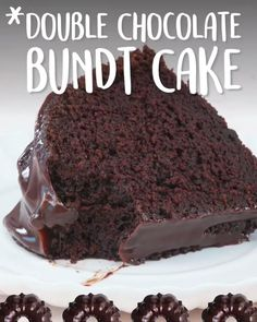 Chocolate Bundt Cake: Intensely chocolatey , this can be the proper chocolate bundt cake—and doubtless, a chocolate lover's dream. The cake's made chocolate flavor is increased with the addition of coffee within the batter and coffee within the glaze. Yummy Recipes, Baking Recipes, Delicious Desserts, Dessert Recipes, Yummy Food, Sweet Recipes, Chocolate Flavors, Chocolate Desserts, Cake Chocolate