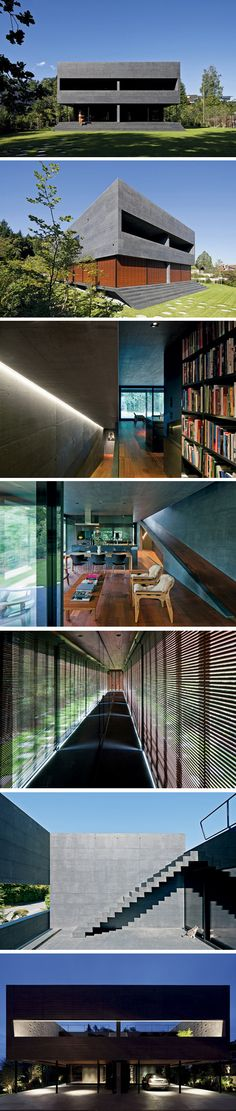 Kastanienbaum Twin Houses by Lussi + Halter Partner AG. Switzerland