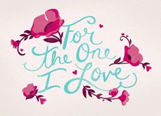 Floral One Love Romantic Valentine's Day Card