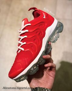 """huge selection of 66066 e1b23 """"CHILLI"""" Nike vapormax plus customs. Please allow up to 2 weeks to receive"""
