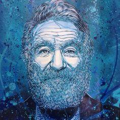13 stencil graffiti portraits by French street artist - Robin Williams memorial Graffiti Art, Stencil Graffiti, Stencil Art, Stencils, Amazing Street Art, Amazing Art, Illustrations, Illustration Art, L'art Du Portrait