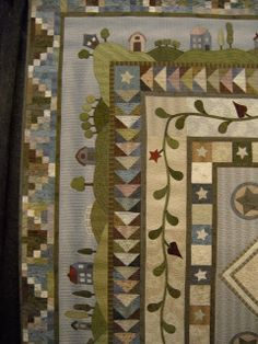 beautiful quilt from quiltmania 2013. love the border!