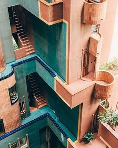 Photographer Salva López captured the cubist heights and halls of Walden Ricardo Bofill's utopian vision for social living in Sant Just Desvern, Spain. Together with Monocle he discovers a community-minded building that turned science fiction into harmo Architecture Design, Amazing Architecture, Cubist Architecture, Contemporary Architecture, Barcelona Architecture, Contemporary Design, Computer Architecture, Architecture Quotes, Vintage Architecture
