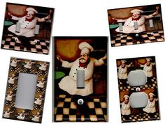 Fat Chef Kitchen Wall Décor - eBay