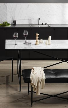 From the iconic Daybed to the grand Modular Sofa, all HANDVÄRK seating objects are meticulously designed in Denmark and characterized by aesthetic sustainability: a timeless object in a quality last a lifetime. Danish Furniture, Furniture Design, Piano Bench, Modular Sofa, White Marble, Dining Table, Kitchen, Home Decor, Minimalism