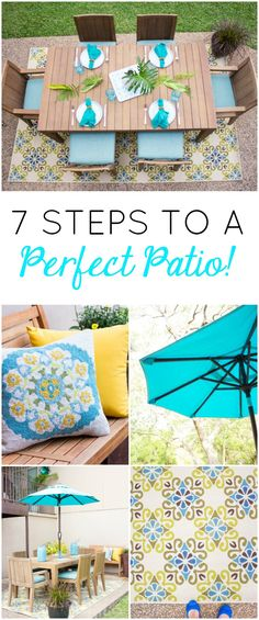 Get your outdoor space ready for summer with this patio decorating checklist!