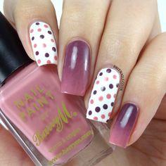Gradient and polka dots