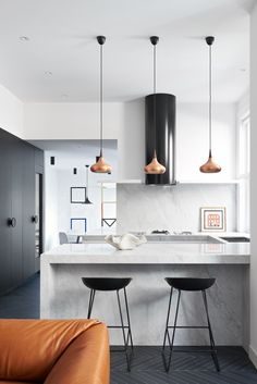 Wonderful Useful Tips: Minimalist Decor With Color Grey Walls minimalist home plans design.Simple Minimalist Home Monochrome boho minimalist decor lamps.Minimalist Interior Decor Home Office. Australian Interior Design, Interior Design Awards, Contemporary Interior, Contemporary Kitchens, Modern White Kitchens, Contemporary Office, Minimalist Kitchen, Minimalist Interior, Minimalist Decor