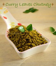 Flavors And Colors: Karbeva Chutney/ Curry Leaves Chutney