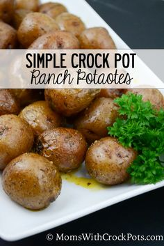 Easy and family friendly! Make this Simple Crock Pot Ranch Potatoes Recipe. Such a great easy Side dish